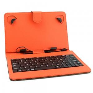 Универсален калъф с клавиатура DIVA за 7-инчови таблети, Оранжев