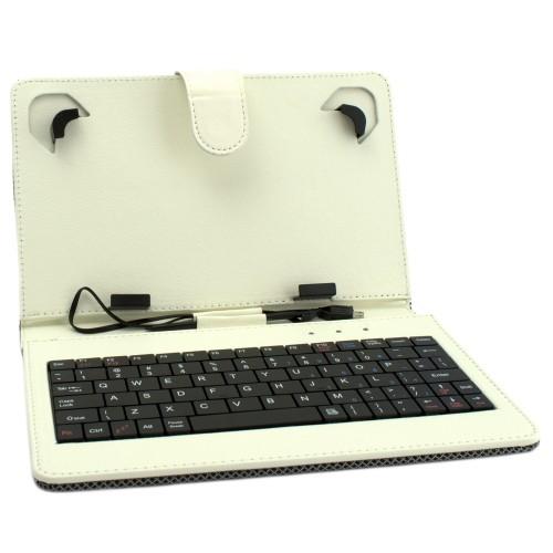Универсален калъф с клавиатура DIVA за 7-инчови таблети, Бежов
