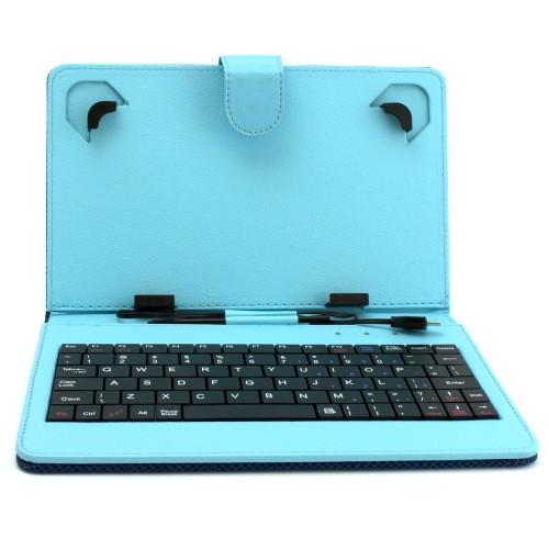 Универсален калъф с клавиатура DIVA за 7-инчови таблети, Син