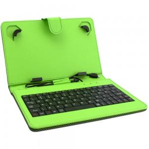 Универсален калъф с клавиатура DIVA за 7-инчови таблети, Зелен