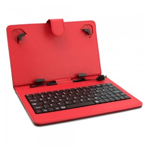 Универсален калъф с клавиатура DIVA за 7-инчови таблети, Червен