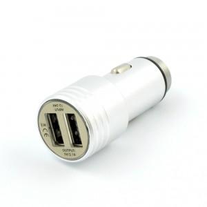 Зарядно устройство за автомобил, 2 x USB изхода, Silver