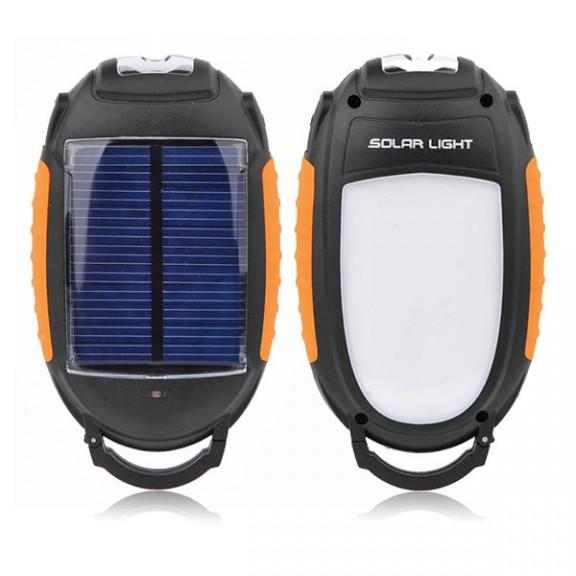Преносима соларна външна батерия с LED фенер Diva