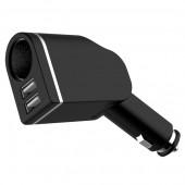 Зарядно устройство за автомобил с 2 USB порта и гнездо за автомобилна запалка CP-36A