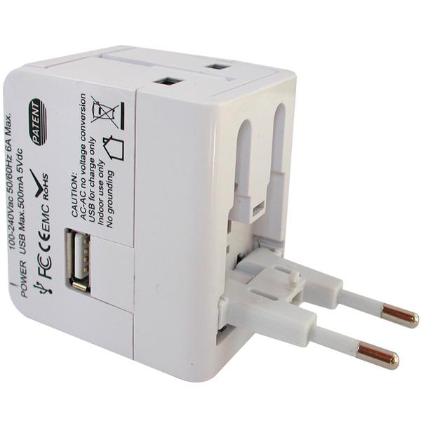 Универсален пътен адаптер DIVA, 1 x USB
